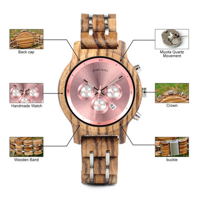 Women Wooden Watch - Wine Wild West - Wine Gifts and Accessories