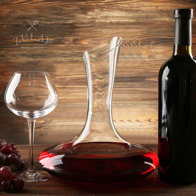 Zulay Wine Decanter (1800ml) Holder