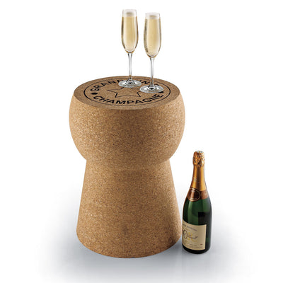 champagne cork stool table