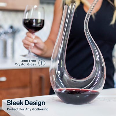 Wine Decanter U Shape Design - Wine Wild West - Wine Gifts and Accessories