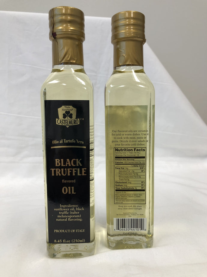 Castelmuro Black Truffle Oil, Black truffle oil