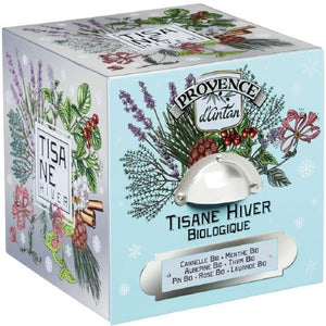 Provence D'Antan Organic Winter Herbal Tea - 24 individually wrapped bags