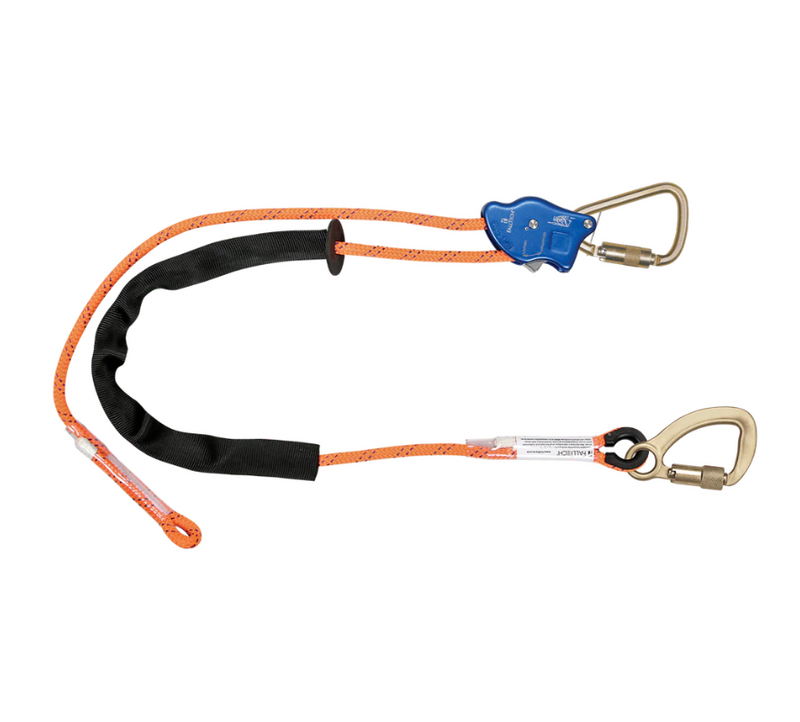 Tower Climber® Rope Positioning Lanyard with Aluminum Adjuster with Steel Carabiners