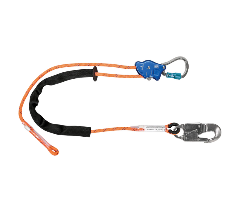 Tower Climber® Rope Positioning Lanyard with Aluminum Adjuster with Aluminum Snap Hook and Carabiner