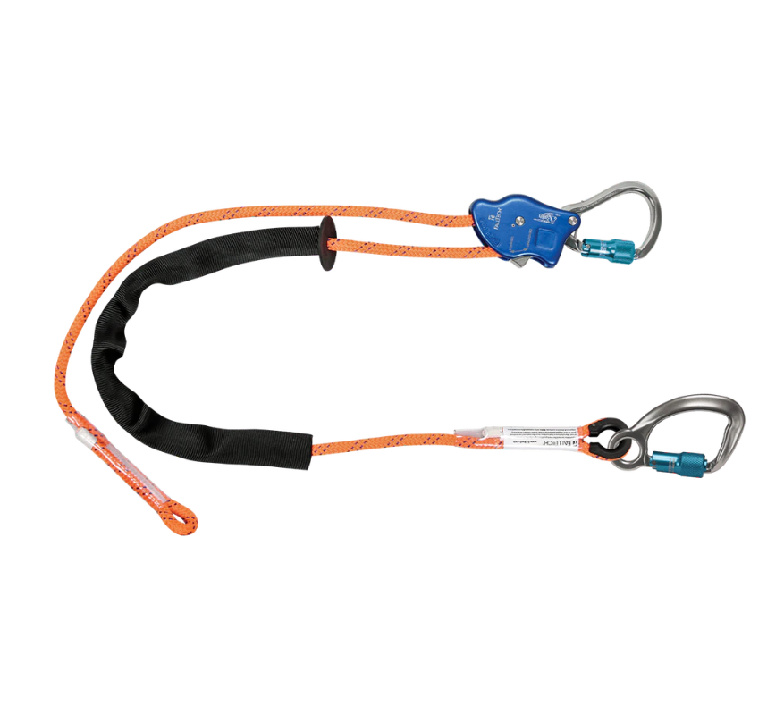 Tower Climber® Rope Positioning Lanyard with Aluminum Adjuster with Aluminum Carabiners