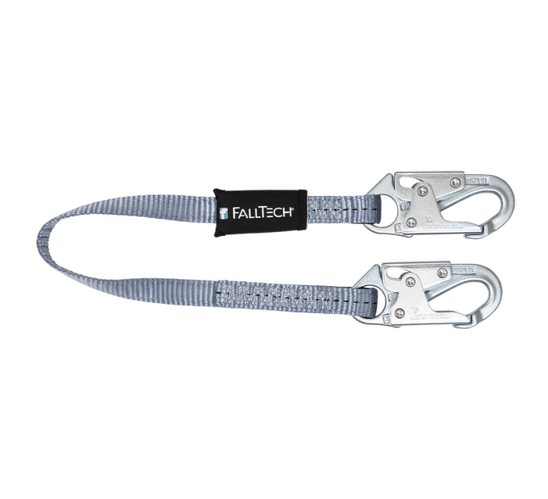 Web Restraint Lanyard, Fixed-length with Steel Snap Hooks