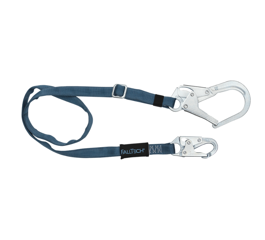 4' to 6' Adjustable Length Restraint Lanyard with Steel Connectors