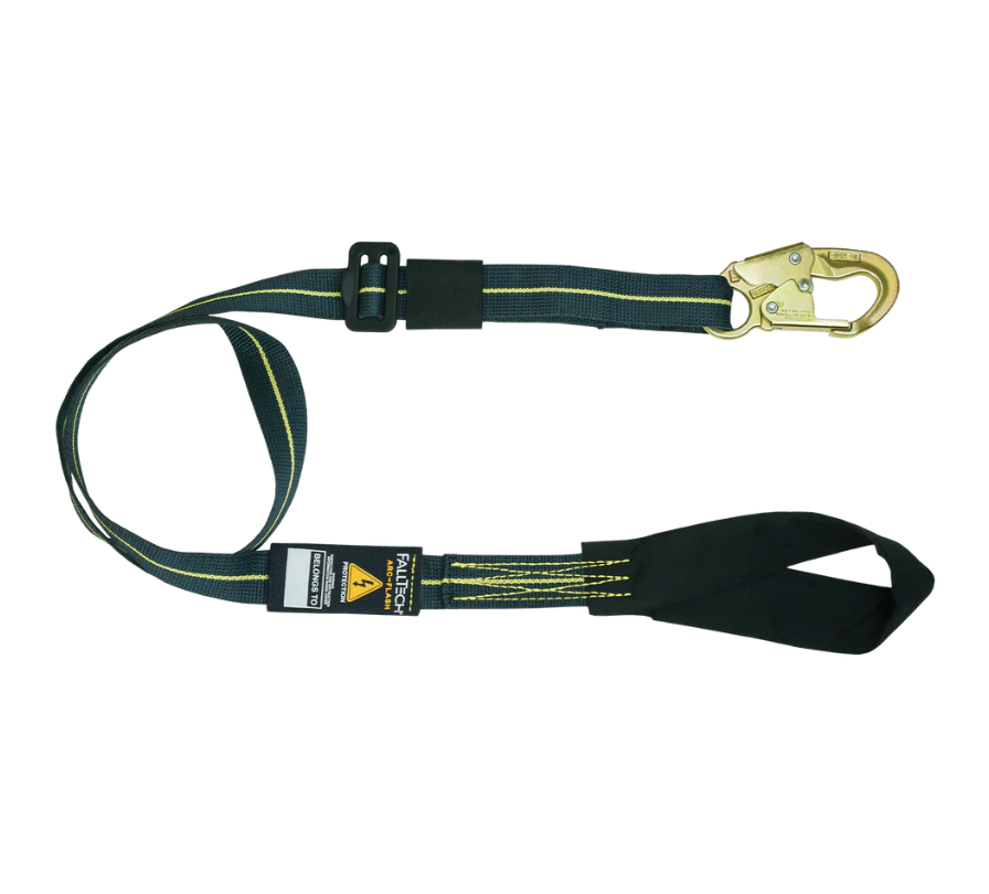 4' to 6' Arc Flash Adjustable Length Restraint Lanyard with Choke-loop