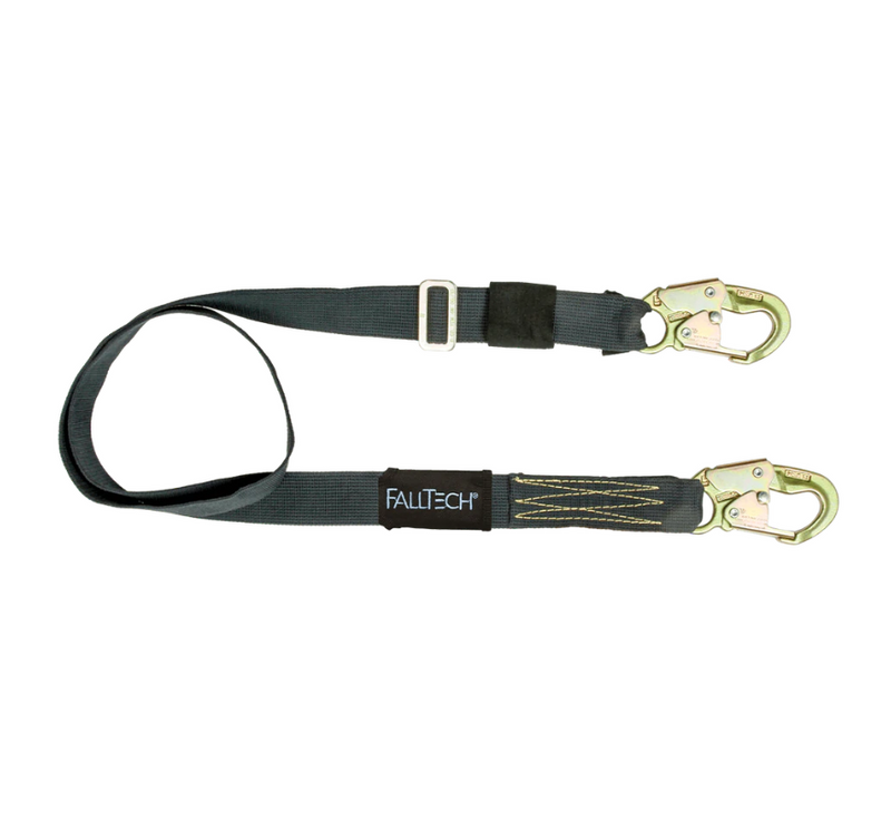 4' to 6' WeldTech® Adjustable Length Restraint Lanyard with Steel Snap Hooks