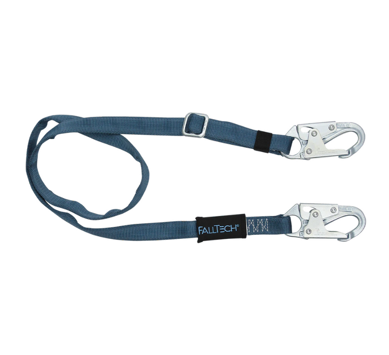 Adjustable Length Restraint Lanyard with Steel Snap Hooks