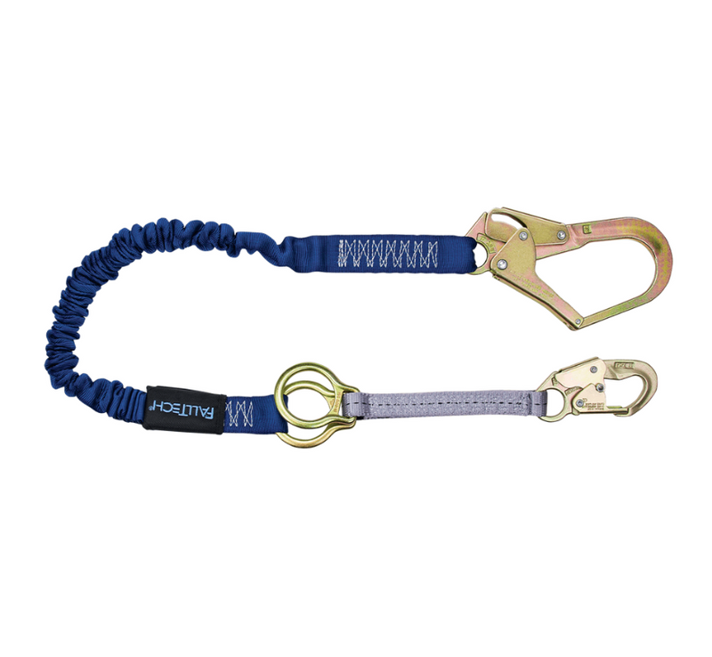 4½' to 6' ElasTech® Energy Absorbing Lanyard, Single-leg with Connectors