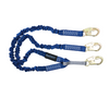 4½' to 6' ElasTech® Energy Absorbing Lanyard, Double-leg with Snap Hooks