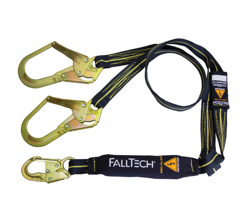 6' Arc Flash Energy Absorbing Lanyard, With Steel Connectors