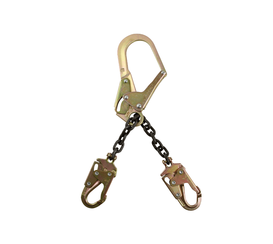 "17"" Standard-duty Rebar Positioning Assembly with Chain and Steel non-Swivel Rebar Hook"