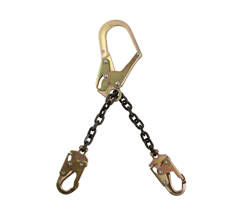 "21"" Standard-duty Rebar Positioning Assembly with Chain and Steel non-Swivel Rebar Hook"