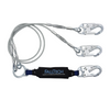 6' ViewPack® Coated Cable Energy Absorbing Lanyard, Double-leg