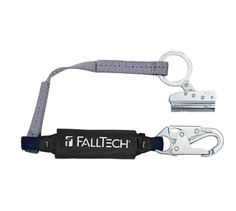 Trailing Rope Adjuster with 3' ViewPack® Energy Absorbing Lanyard