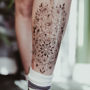 Large Mandala/Floral Temporary Tattoo