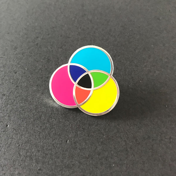 CMYK Colour Circle — Enamel Pin