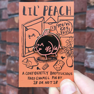 Lil' Peach Sassy Pin –– 2B or Not 2B