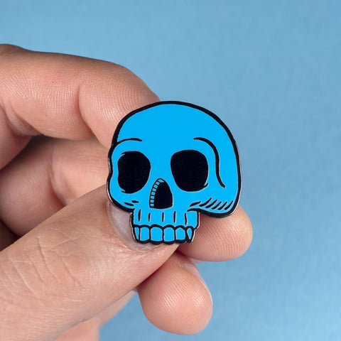 Blue Skull Pin –– Big A Band