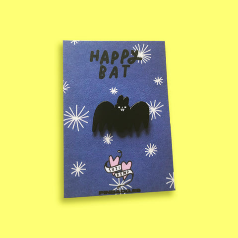 Happy Bat Pin –– Suzi Kemp