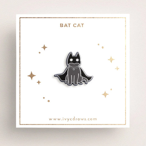 Bat Cat Pin –– Ivy Chan