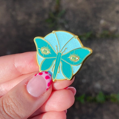Nocturnal Moth Pin