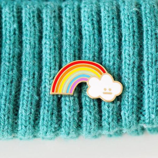 Cloud and Rainbow Pin –– Rock Cakes