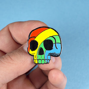Pride Skull Pin –– Big A Band
