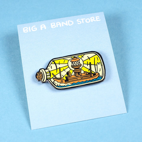 Lightship in a Bottle Pin ––  Big A Band