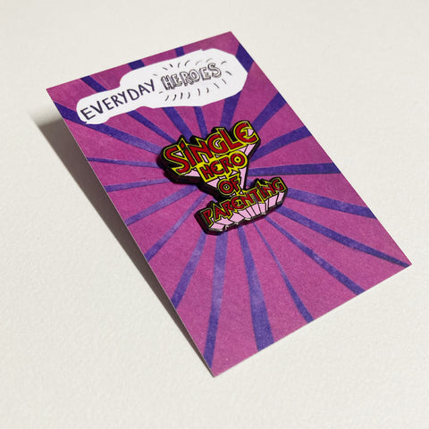 Single Parent Heroes Pin –– Victoria Adams X Gingerbread Charity