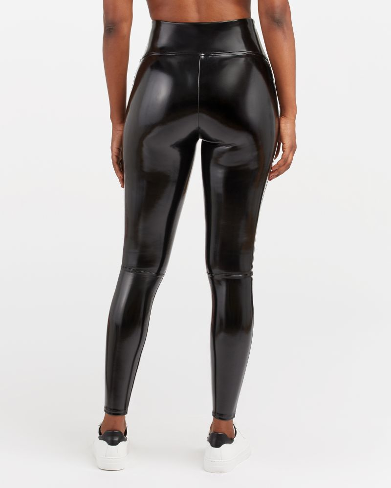 Faux Patent Leather Legging-Spanx
