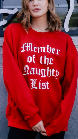 MEMBER LIST SWEATSHIRT
