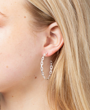 Alicia Chain Hoop Earrings