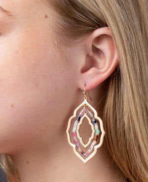 Amina Morroccan Resin Earrings