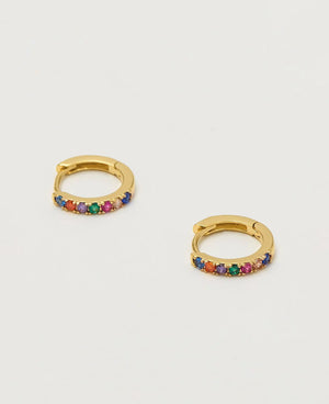 Hoop Rainbow Earrings