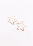 Thin Wire Star Earrings