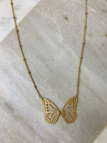 Open Butterfly Necklace
