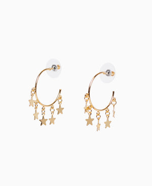 Glimmering Gold Stars Earrings