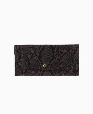 Nero Snakeskin Print Long Wallet