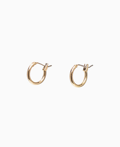 Anyah Golden Tiny Hoop Earrings
