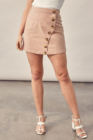 Julliard Linen Skirt-Blush