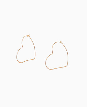 Crazy in Love Heart Hoop Earrings