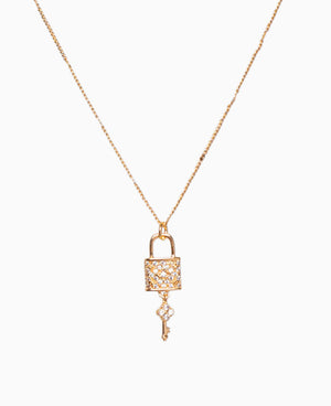 Lock n' Key Dainty Necklace