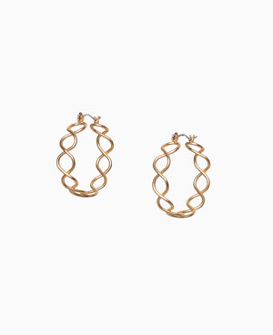 Rigged Rope Hoop Earrings
