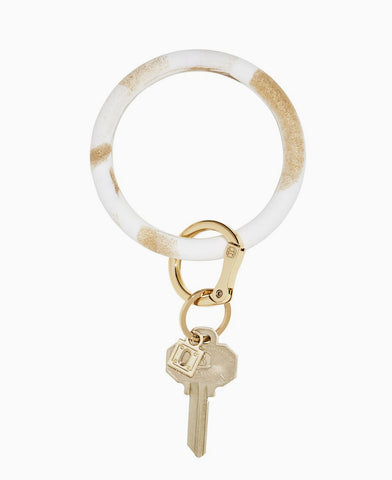Gold Rush Marble Silicone O Key Ring