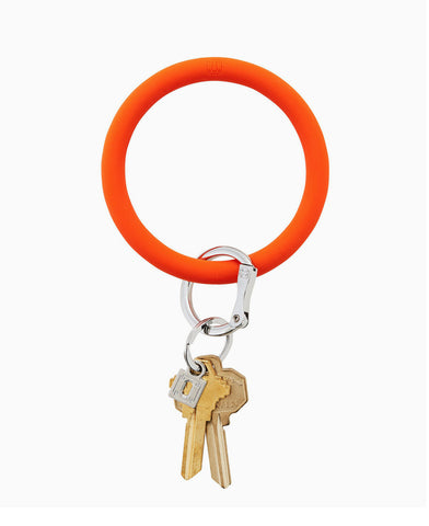 Orange Crush Silicone O Key Ring