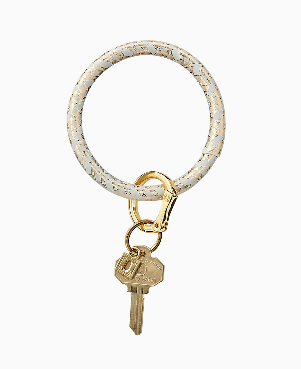 Gold Rush Basketweave O Key Ring
