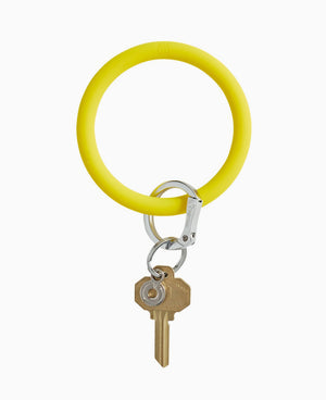 Yes Yellow Silicone O Key Ring